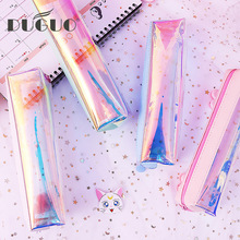 DUGUO cute stationery laser pencil bag creative little fairy box color case student