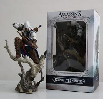 The Hunter Assassin's Creed III Action Figure Assassin s Creed PVC Doll 2018 New Toys Edward Canvey 26cm