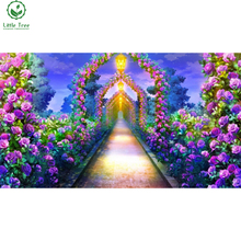 3d diamond embroidery crystal inlay rhinestone wall picture paradise garden home decoration mosaic painting cross stitch crafts