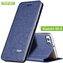Xiaomi mi6 case flip leather Mofi original xiaomi mi 6 case soft transparent silicon back cover xiomi 6 case hard metal armor