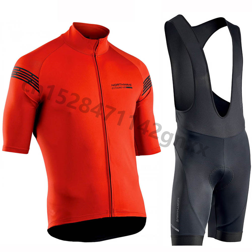 New NW Northwave Summer Cycling Jersey Set MTB Bicycle Cycling Clothing Breathable Bike bib Shorts 2019 Maillot Ropa Ciclismo in Cycling Sets from Sports Entertainment