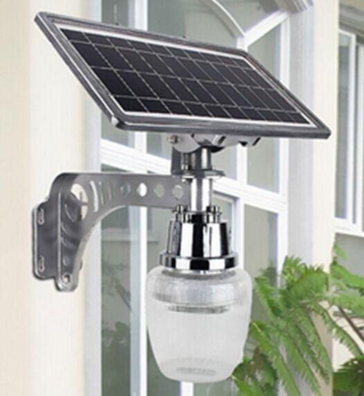 6 w movido a energia solar levou luz de rua de microondas motion sensor led lamp quintal/integrado de iluminação do jardim ao ar livre luz da parede luz
