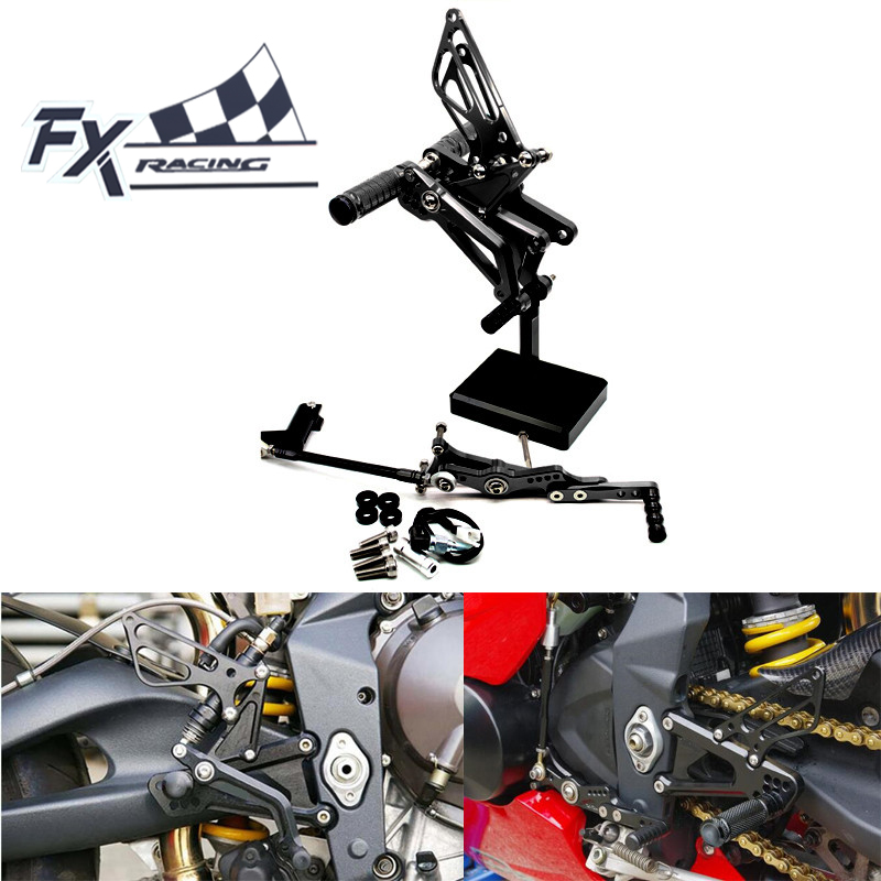 FX Motorcycle Rearsets Rear Set Foot Pegs Pedal Footrest For TRIUMPH DAYTONA 675R 2006-2016 DAYTONA 675 2011-2013 Foot Parts стоимость