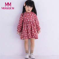 Hot Sale Toddler Kids Baby Girl Long Sleeve Tree Pattern Warm Thick Autumn Winter Party Princess