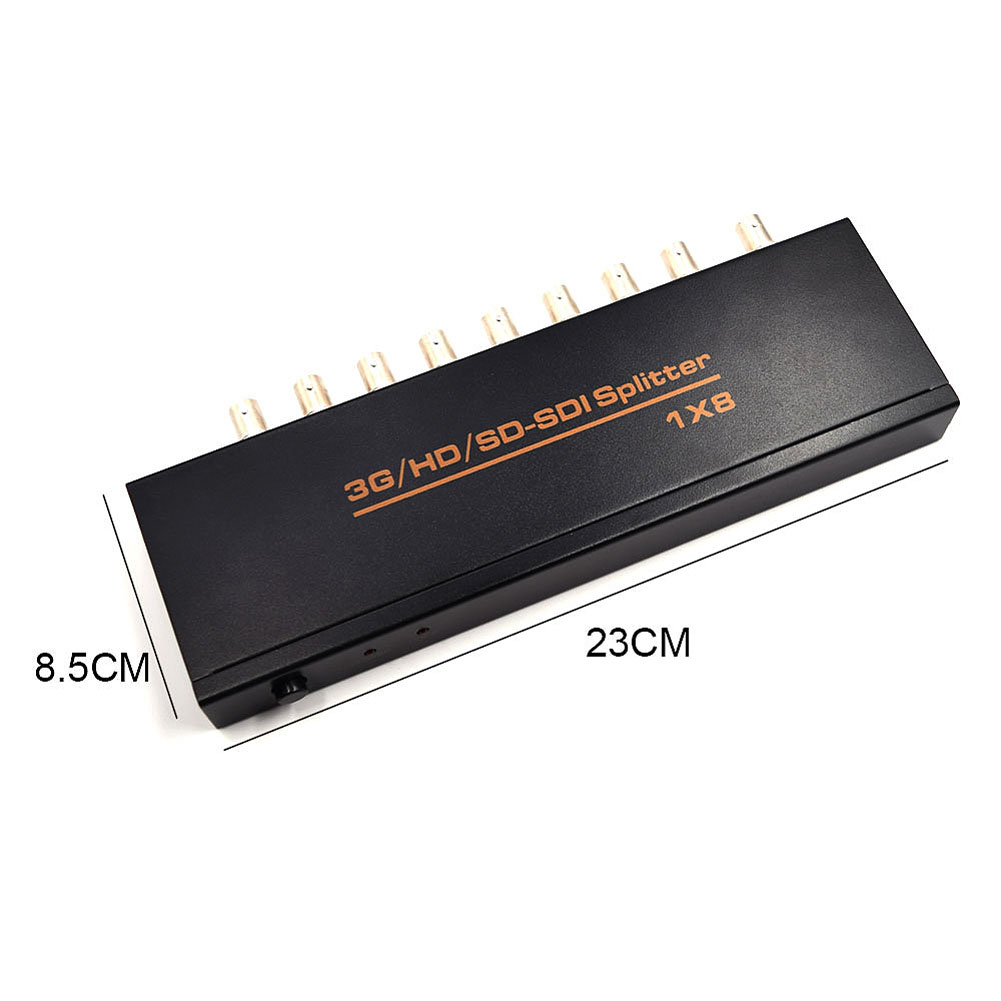 High Quality1x8 Multimedia Splitter SDI Extender Adapter 1 in 8 Out Support SD HD 3G 1080P TV Video for DVR --M25 1x2 sdi splitter 3g hd sdi repeater 2 port sdi splitter support 1080p 100m distribution amplifier extender audio video output