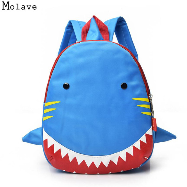 5b1560bc70 2018 3D Cartoon Shark Plush Children Backpacks kindergarten Schoolbag Kids  Backpack Children School Bags Girls Boys May17