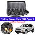 רכב אחורי מטען מגש אתחול אוניית שטיח מגן רצפת מחצלות Pad עבור פורד Escape Kuga 2013 2014 2015 2016 2017 2018 2019