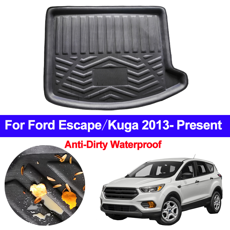 Car Rear Trunk Mat Cargo Tray Boot Liner Carpet Protector Floor Mats Pad For Ford Escape Kuga 2013 2014 2015 2016 2017 2018 2019