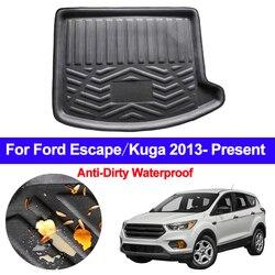 Samochód mata do bagażnika Cargo tacy wkładka do bagażnika zabezpieczenie do dywanu maty podłogowe Pad dla Ford Escape Kuga 2013 2014 2015 2016 2017 2018 2019 na