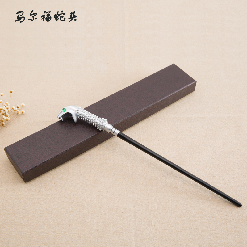 New Arrive Metal Iron Core Malfoy Snake Wand Harry Potter Magic Magical Wand Gift Box Packing high quality best price harry potter magic wand kids cosplay stage magic tricks sticks children toys harry potter magical wand