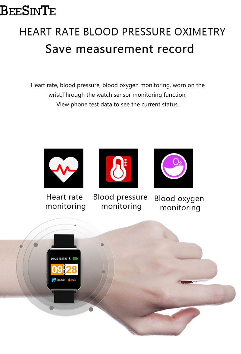 Image 5 - Smart wristband Fitness Activity Tracker Watch Waterproof with Sleep Monitor Smart Bracelet Sport Pedometer Fitness Armbands Hot-in Smart Wristbands from Consumer Electronics