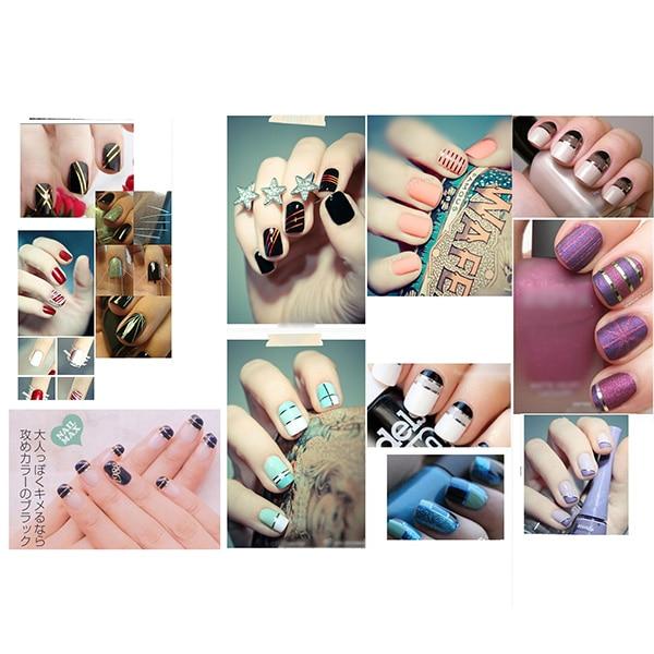 7 Colors Set New Nail Art Strip Tape Line Tips Sticker Decoration