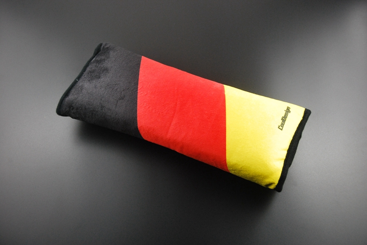 Germany Flag Car Seat Belt Pad 3 Color Dyeing Auto Seat Belt Shoulder Pad The UK Flag Belt Pad Cotton 30cm Mama Family 1pc