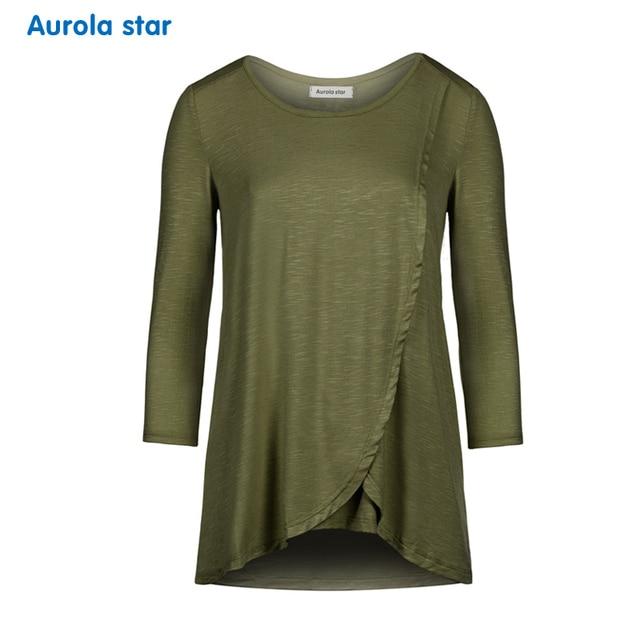 Breastfeeding Maternity Clothing Top Nursing Blouses For Pregnancy Women Long Sleeve Nursing Blouse Top Plus Size Women Clothing 1