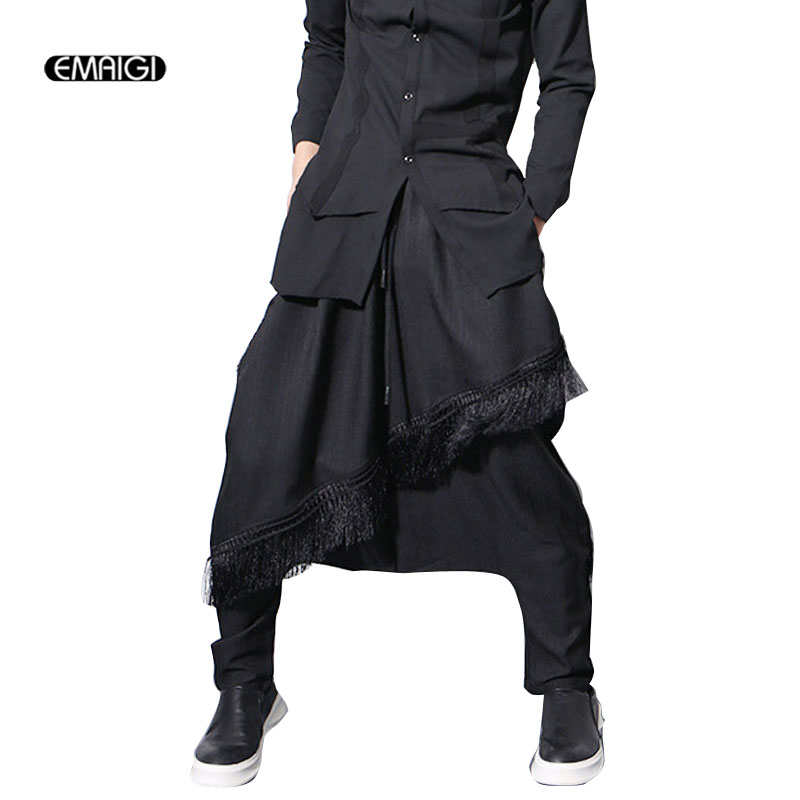 Men Low Crotch Harem Pant Male Fashion Casual Loose Punk Gothic Style Trouser Streetwear Hip Hop Pants ...