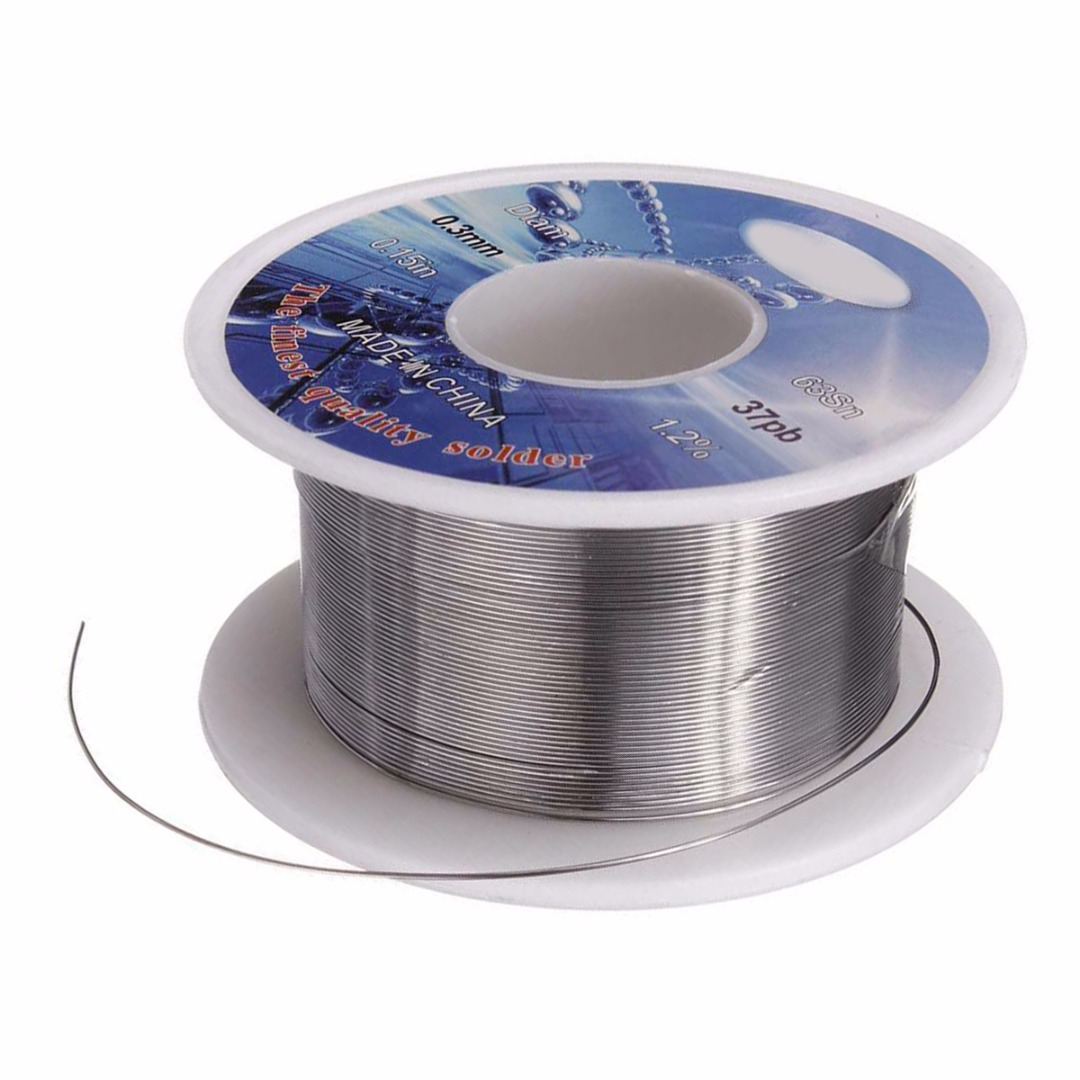1 Roll Tin Lead Solder Wire For Circuit Board Flux Welding Iron Line Reel Rosin Core Solder Wire 2 0 0 3mm 63 37 in Welding Wires from Tools