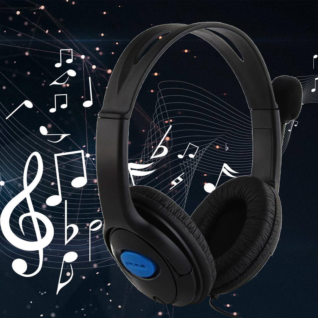 все цены на Marsnaska dual big ear Wired Gaming Chat Headset Headphone Microphone for Sony Playstation 4 PS4 Black онлайн