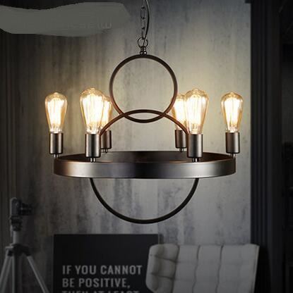 Loft industrial style dining room Pendant Lights black iron American retro clothing store cafe bar works Pendant Lamps ya7299 retro matte black iron ceiling light american industrial iron lights