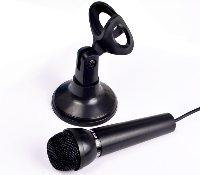 3 5MM Stereo Plug Condenser Microphone Multimedia Desktop Mic With Stand  for PC Laptop Skype Recording Speech