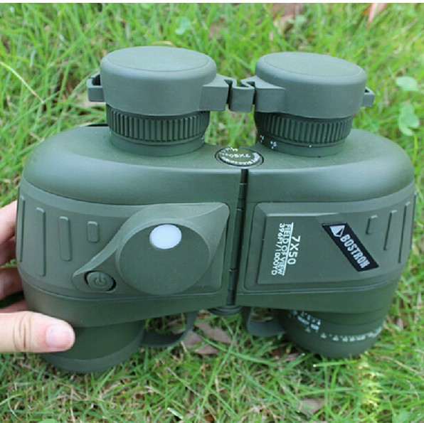 All optical HD Waterproof 7x50 Military Compass Binoculars With font b Rangefinder b font For Hunting