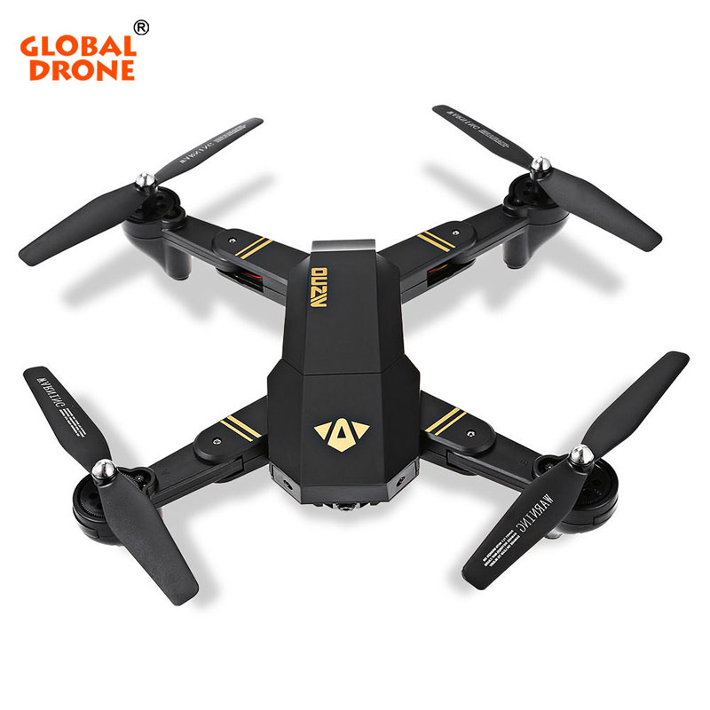 Global Drone XS809 Selfie Drone RC WIFI Quadcopter/Helicopter Drones with Camera HD Fpv XS809w Foldable Drone rc selfie quadcopter drone with camera wifi hd 5 0mp 1080p fpv drones remote control helicopter drone camera dron x21p