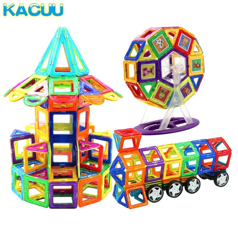 21-89 piezas de gran tamaño DIY bloques magnéticos Constructor magnético niños imán diseñador para niños regalo juguetes educativos para niños Niña