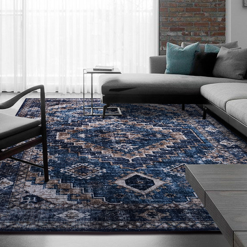 Vintage Carpets For Living Room American Persian Rug Imported Chenille Carpet Bedroom Sofa Coffee Table Floor Mat Moroccan Rugs