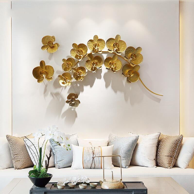 Europeo tridimensionale a mano in ferro battuto decorazione della parete autoadesivo del fiore Creativo living room corridoio corridoio appeso - 6