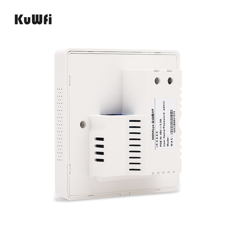 Image 5 - KuWFi 300Mbps Wireless Wifi Router Indoor In wall POE AP Router for Hotel/Dormitory/Hospital/Villa Support 20users-in Wireless Routers from Computer & Office