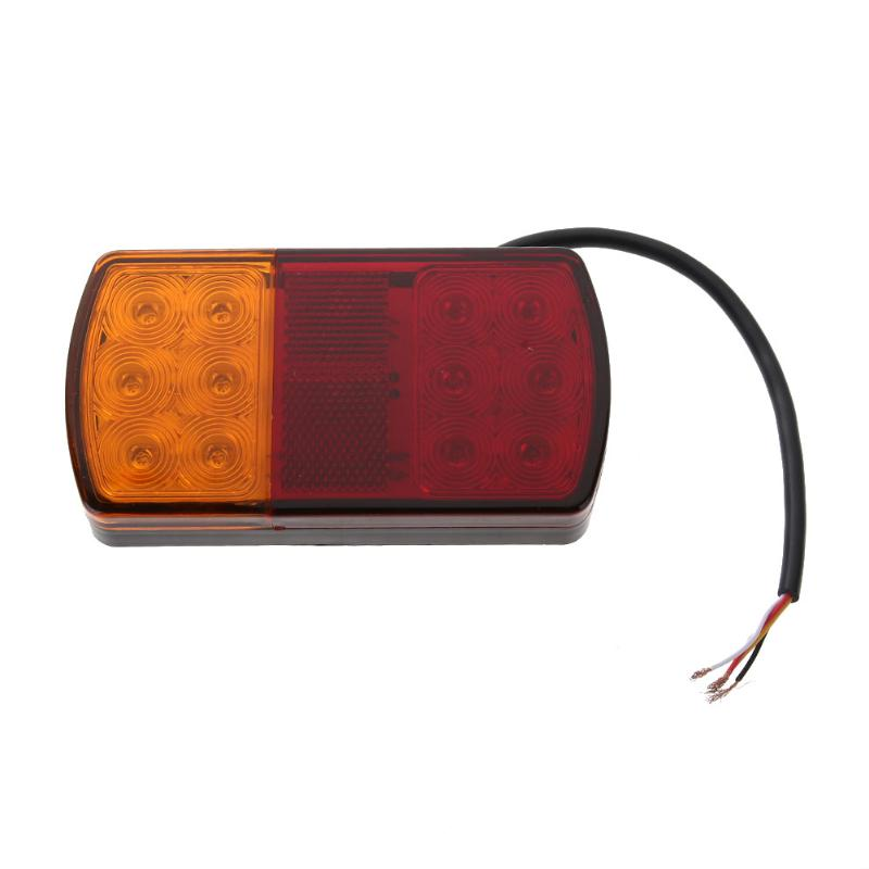 Waterproof Car Trailer Van LED Tail Light Brake Stop Turning Rear Lamp Auto Turn Signal Lights Truck Tail Lamps 1 pair 24v 36 led trailer car truck led tail light lamp auto rear light tail light
