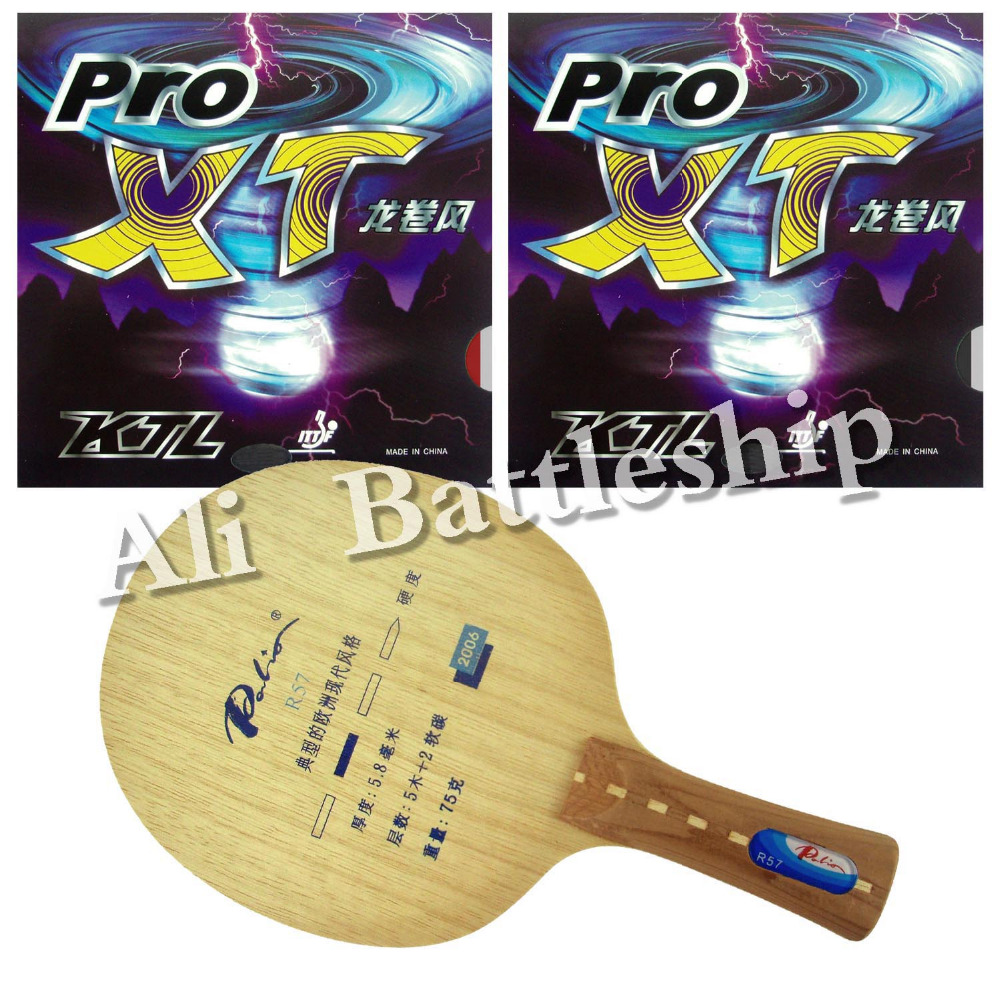 цена на Original Palio R57 Blade with 2x KTL Pro XT Rubbers for a Table Tennis Racket PingPong Paddle