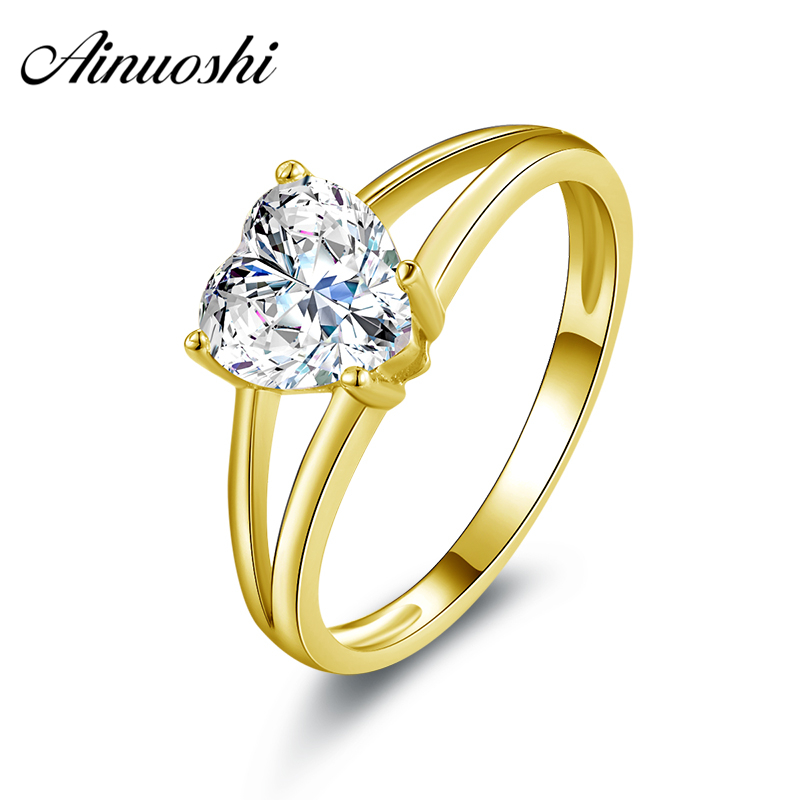 Hearty 9 Ct Or Jaune à Motifs En Forme D Anneau Mariage Precious Metal Without Stones Jewelry & Watches