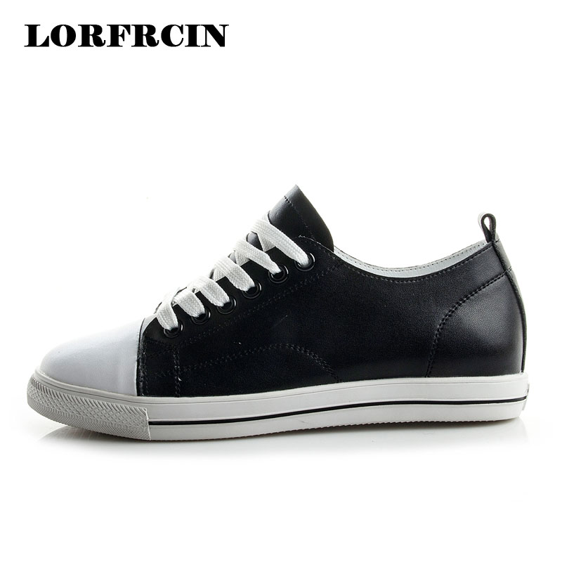 LORFRCIN Women's Sneakers Genuine Leather Shoes Woman Creepers White Casual Shoes For Women Flats Chaussures Femme Trainers 2018 fashion women flats summer leather creepers platform sneakers causal shoes solid basket femme white black