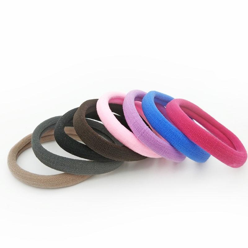 Оптовая продажа 10 шт. Размеры 5 см Цветной Резиночки для волос резиновая резинки для волос гибкий ободок для волос аксессуары для волос Галстук ГУМ