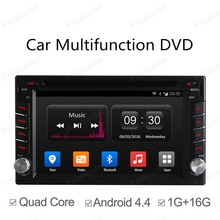 2 Din Universal Android 4.4 Full Touch Panel for Car Radio 2 Din GPS Navigation Car dvd Radio Player Quad Core mirror wifi