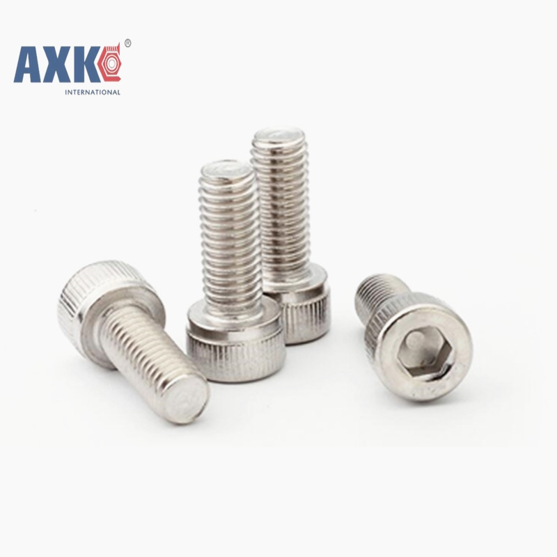 50Pcs M1.6 M2 M2.5 M3 M4 DIN912 304 Stainless Steel Hexagon Socket Head Cap Screws Hex Socket Screw Metric Bike Screw AXK003 2pc din912 m10 x 16 20 25 30 35 40 45 50 55 60 65 screw stainless steel a2 hexagon hex socket head cap screws