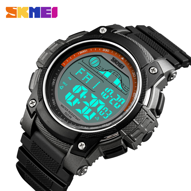 SKMEI Men's Watches LED Sport Watch Men Wristwatch Alarm 50m Waterproof Digital Watches For Male Clock Relogio Masculino 1372 sport watch men outdoor digital watches led electronic wristwatch military alarm male clock relogio masculino digital by senors