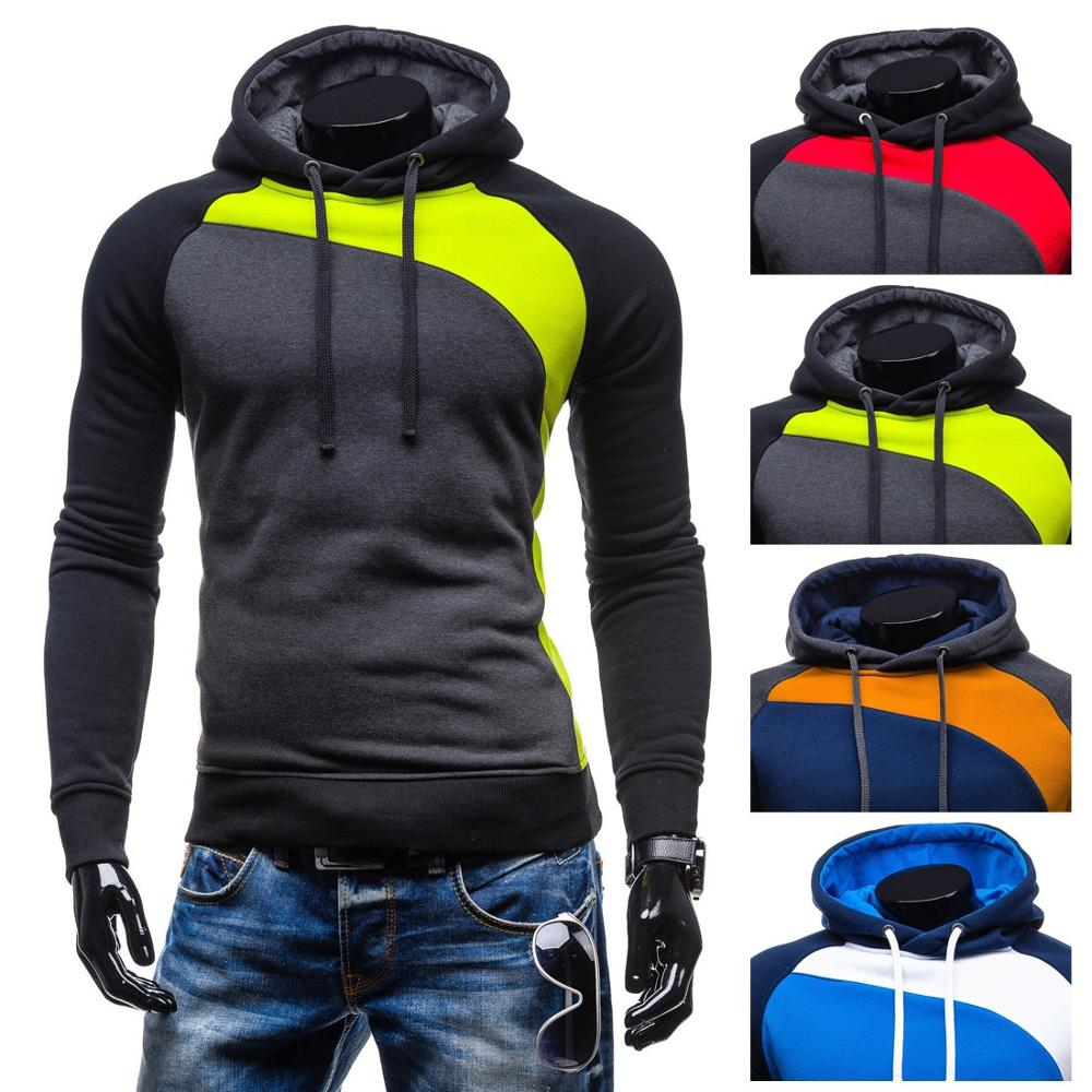 ZOGAA Hoodies Men Autumn Thick Hooded Street Wear Casual Man Patchwork Sweatshirts Hip Hops Males 4 Colors