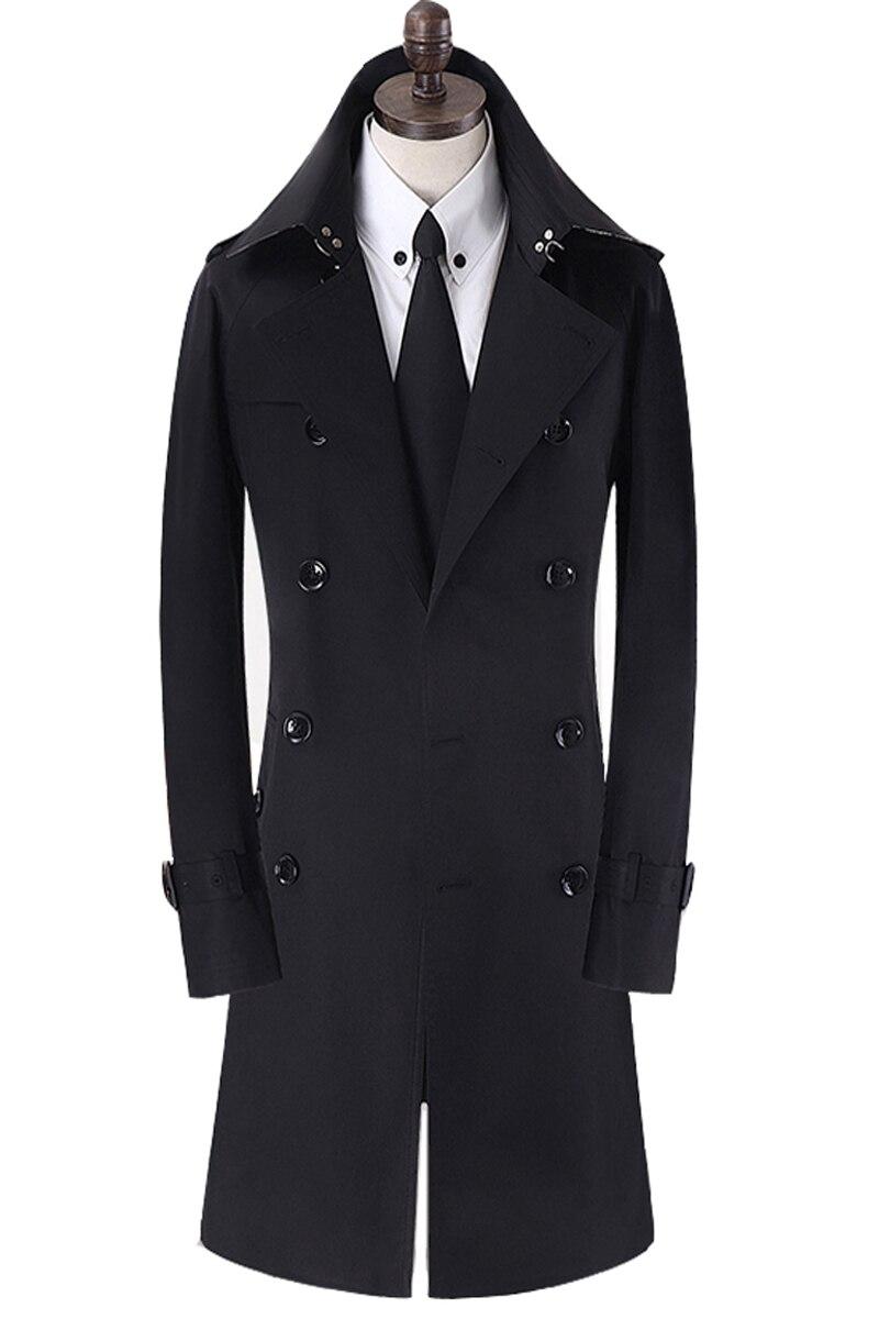 2016 nouveau Cultiver Sa veste à double boutonnage manteau de poussière a grande taille tranchée manteau hommes long manteau hommes