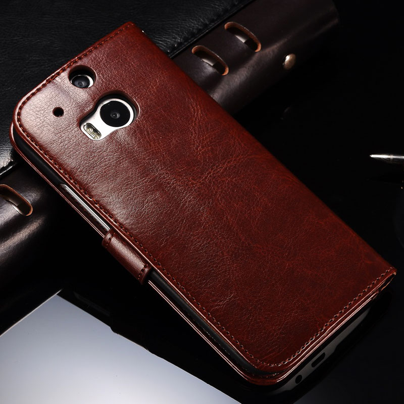best cheap b2a6c ebf4e Cover Case For HTC One M8 Luxury PU Leather Wallet Case For HTC One ...