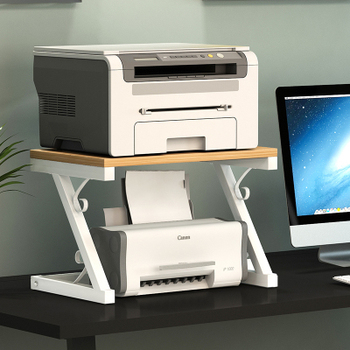 Creative Dual-deck Solid Wood Copier FCreative Dual-derame Office Desktop Shelf Printer Shelf Document Receiving Telephone Shelf