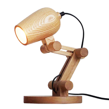 цена на Nordic Wood Table lamp with E27 led lamp wood Lampshade lamparas de mesa Desk Light Decoratio Luminaria For Living Room