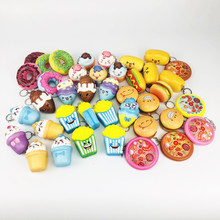 Squishy Slow Rebound Breathable Decompression Novelty Toy Cartoon Keychain Mini Cute Hot Dog Donut Food Section Children's Gifts(China)