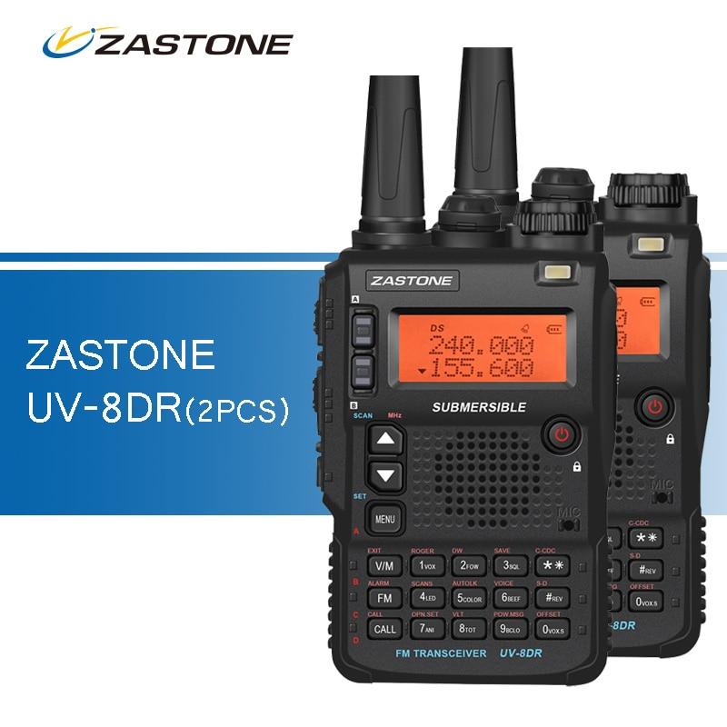 bilder für 2 teile/los UV-8DR Drei Band walkie-talkies 136-174/240-260/400-520 mhz Tragbare Ham CB Radio Transceiver Walkie Talkie für Jagd