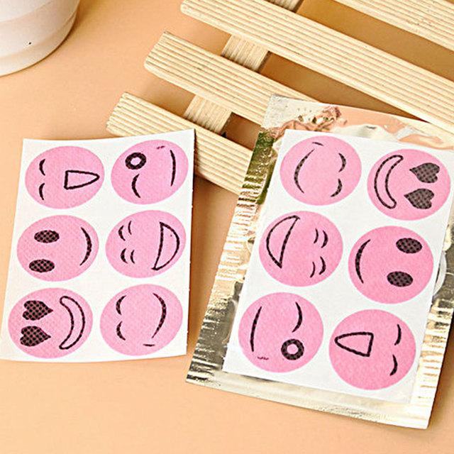 10 packs Mosquiot Repellent Stickers Patches Smiling Face Drive Midge Citronella Oil Mosquito Killer Cartoon Repeller Sticker