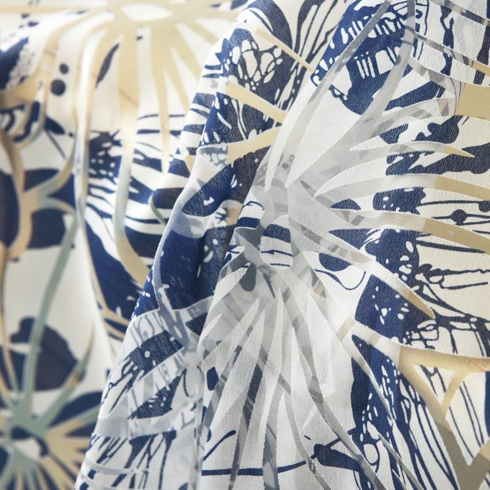 Floral vorhang kurz küche volant vorhänge binden stange tasche sheer ...