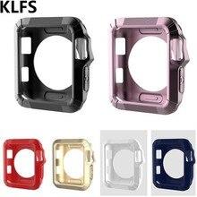 KLFS тонкий прочный защитный рамки Мягкие силиконовый чехол из ТПУ для Apple Watch Series 1 2 3 38 мм 42 чехол Бампер протектор чехол