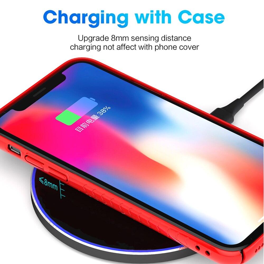 FDGAO 15 W Hızlı Kablosuz şarj için iPhone XS Max X 8 XR 11 - Cep Telefonu Yedek Parça ve Aksesuarları - Fotoğraf 4