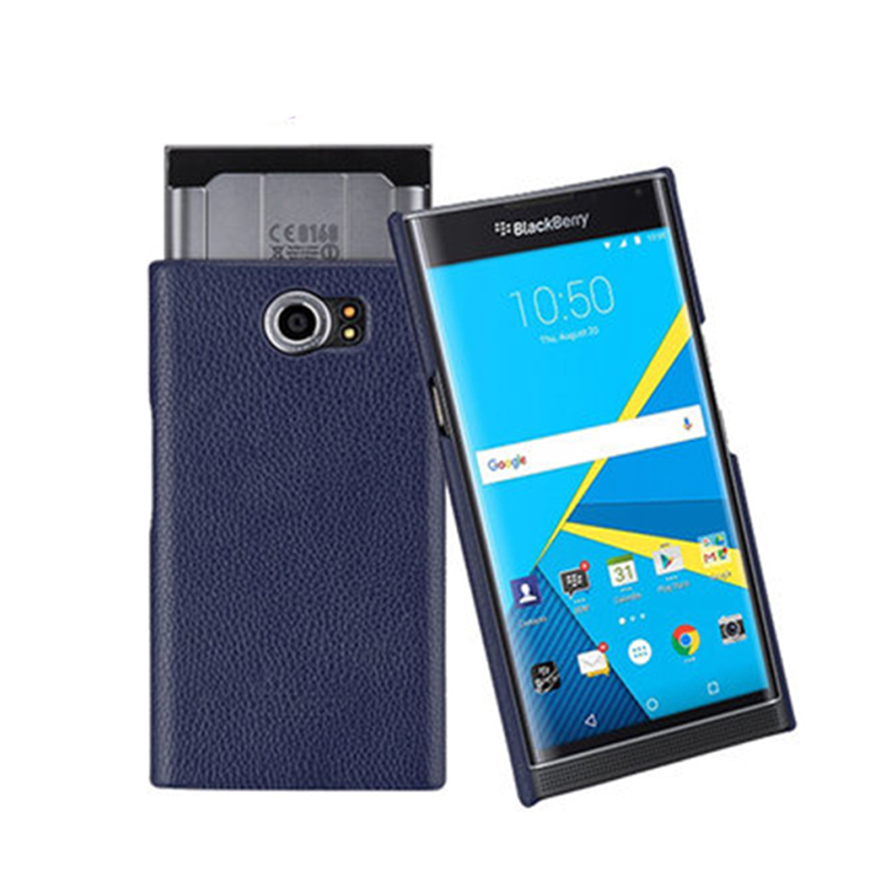 For Blackberry Priv Back Case Luxury Genuine Leather Protect Cover For Blackberry Priv Mobile Phone Shell Back Cover+Free Gift(China)