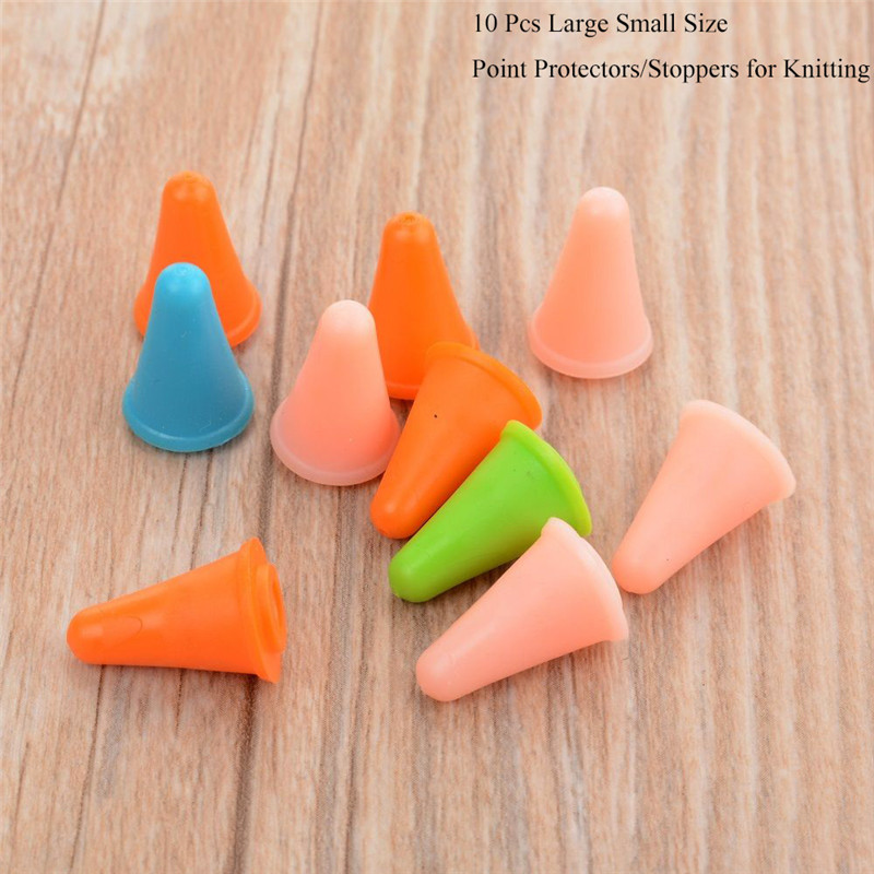 Pack of 10 Plastic Point Protectors//Stoppers for Knitting Needle DSUK
